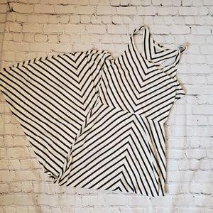 Lauren Conrad Sz Medium Tank Maxi Dress Stripes